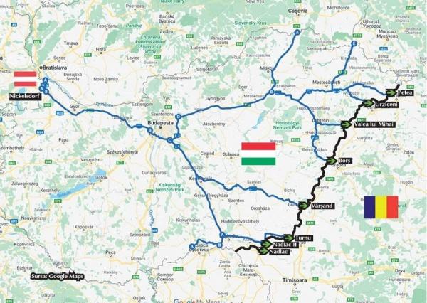 Rute de deplasare pentru cei care vor să ajungă în vămile de pe granița de vest a României