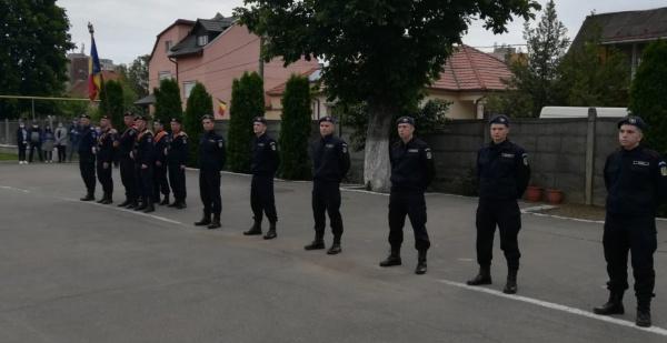 Depunerea jurământului militar la Jandarmeria Satu Mare