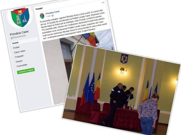 Stați acasă! Primăria Carei sfidează prevederile Ordonanței Militare și face ceremonii festive dar se rușinează să le facă publice