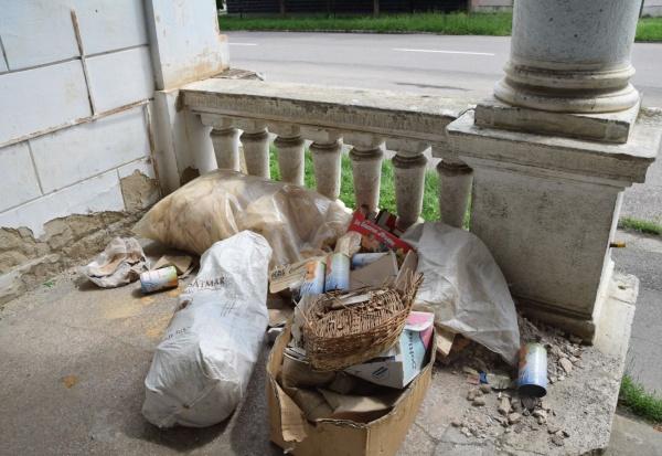 Depozit de gunoaie la Baia  Comunală Carei