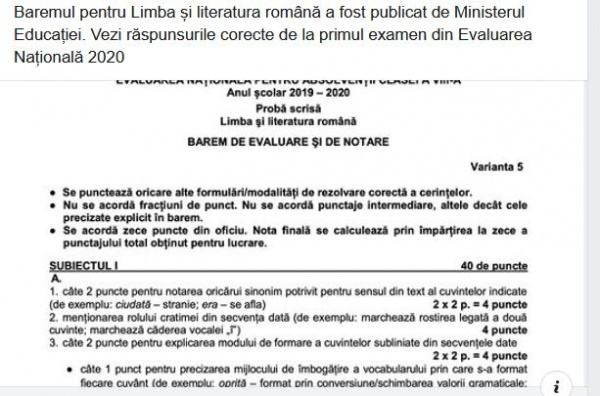 A început Evaluarea Națională. 471 de candidați nu s-au prezentat
