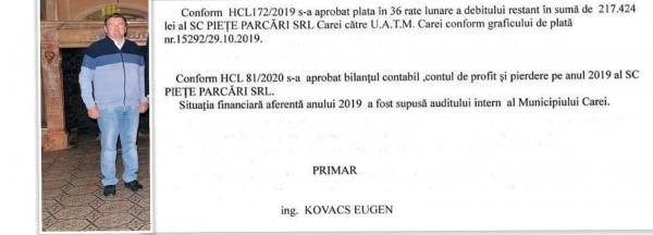 Raportul primarului Kovacs despre datoriile de la piață confirmă cele semnalate de Buletin de Carei
