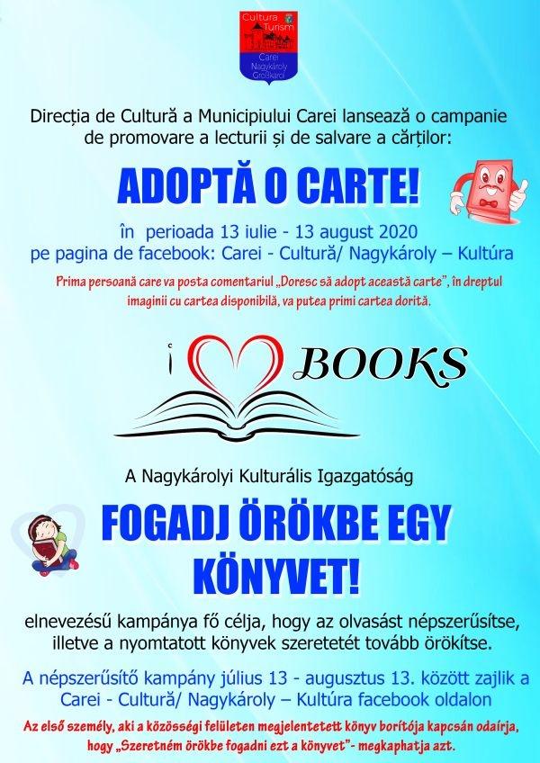 """Campania """"Adoptă o carte!"""""""