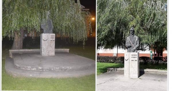 Creștinii din Satu-Mare ajută administrația locală și pun în valoare bustul lui George Coșbuc