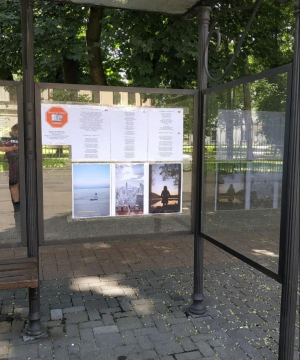 Poezii și fotografii noi în cele 4 stații de autobuz din Carei