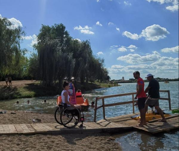 Sport cu caiacul pentru persoanele cu dizabilități