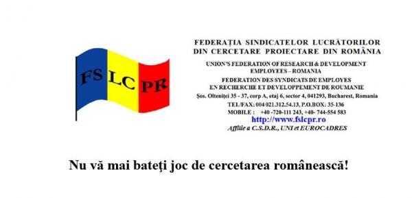 Nu vă mai bateţi joc de cercetarea românească!