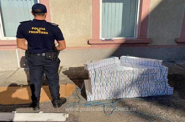 Țigări de contrabandă descoperite pe ruta Satu Mare – Carei