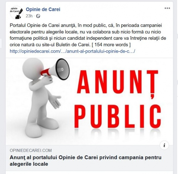 Unic în România! Consilier al primarului din Carei șantajează partidele locale pe blogul său