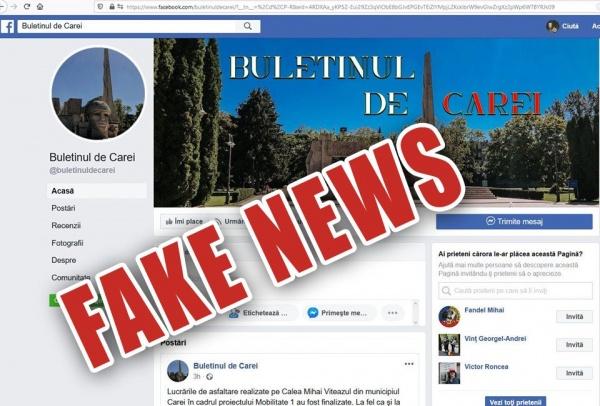 Au clonat pagina Buletin de Carei. Fake-news în lipsă de orice argument