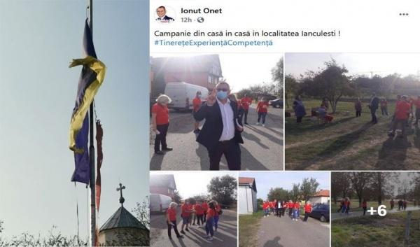 Președintele PSD Satu Mare numit și reprezentant al satului Ianculești și drapelul național zdrențuit din centrul satului