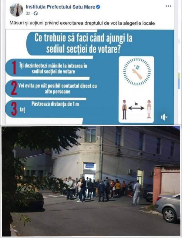 Pandemie  și nu prea în ziua alegerilor. Jandarmeria și Poliția au ignorat la Carei mulțimea de la Serviciul de Evidența Populației