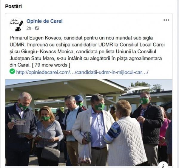 Campanie electorală în timpul programului de la Primăria Carei