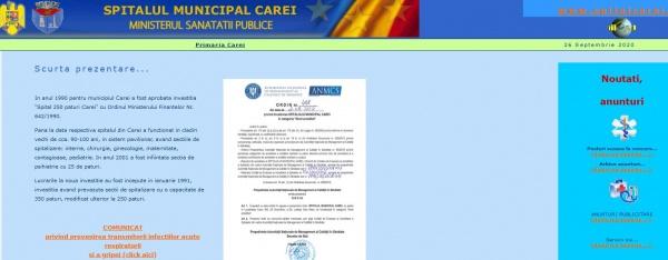 Așteptăm Comunicatul Oficial de la Spitalul Municipal Carei
