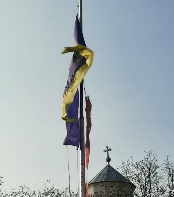 Inspectoratul Județean de Poliție  Satu Mare s-a sesizat în privința drapelului național degradat de la Ianculești