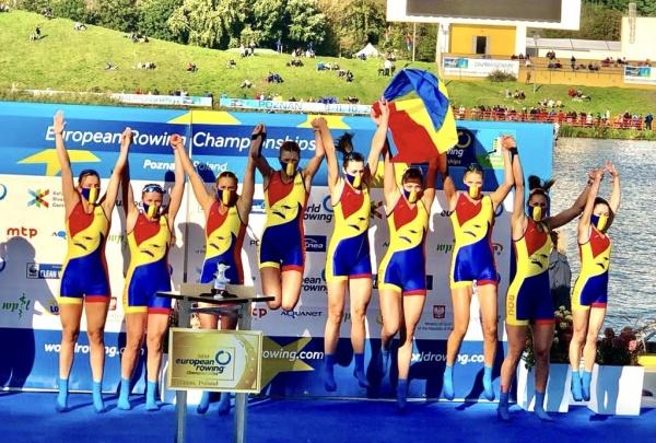 6 medalii pentru România la Campionatele Europene de Canotaj, dintre care 4 de aur, 1 argint și 1 bronz! Locul 2 pe națiuni în probele olimpice!