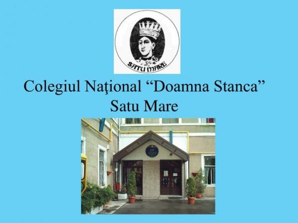 """Placă """"Școală-Ambasador a Parlamentului European"""" pe clădirea Colegiului Național """"Doamna Stanca,,"""