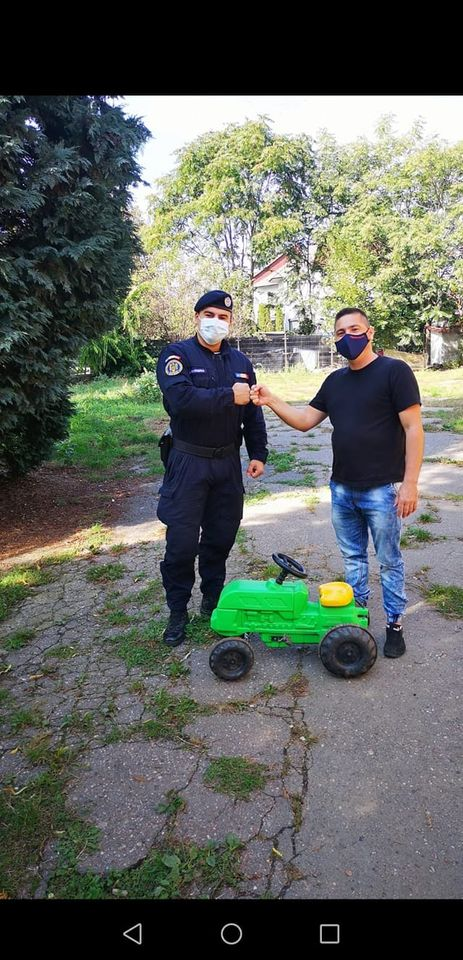 Jandarm și în timpul liber