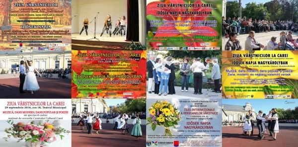 Direcția de Cultură Carei adresează urări de Ziua Mondială a persoanelor vârstnice
