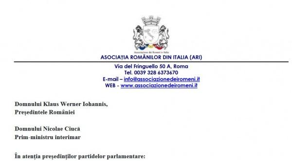 Asociația Românilor din Italia reacționează