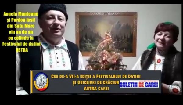 VIDEO. Festivalul de Datini şi Obiceiuri de Crăciun organizat de ASTRA Despărțământul ,,Aurel Coza,, Carei