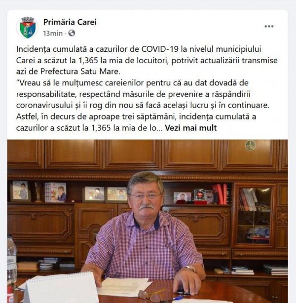 Primarul evazionist mulțumește careienilor și preia proiectele de valoare ale opoziției