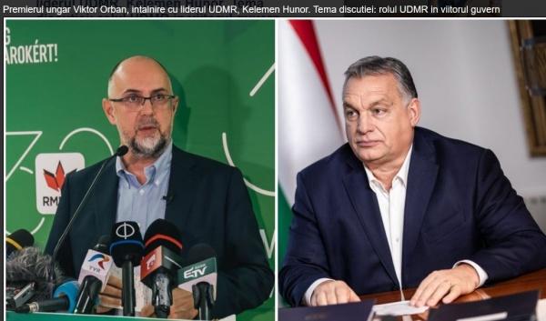 PNL oferă 3 ministere unui ONG constituit pe criterii etnice. La Budapesta se discută rolul UDMR în viitorul Guvern