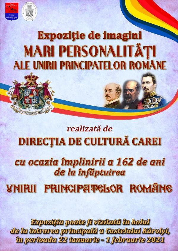 Unirea Principatelor Române marcată prin prezentări şi expoziţii la Carei