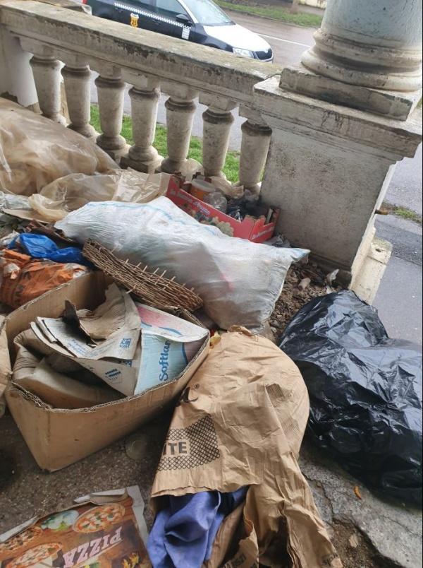Depozit de gunoaie  în plin oraș. Baia comunală Carei