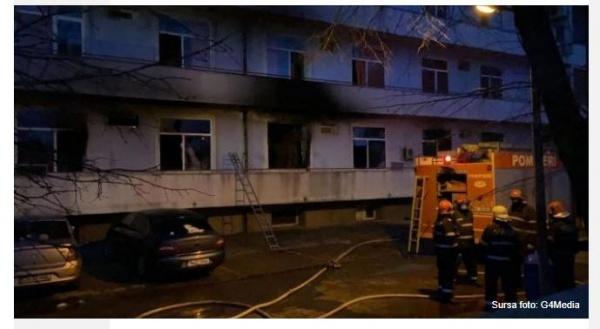 Trei pacienți carbonizați după incendiul de la Institutul Matei Balș