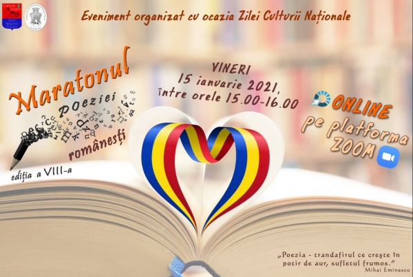 Invitație la Maratonul Poeziei Românești ONLINE  din 15 ianuarie 2021