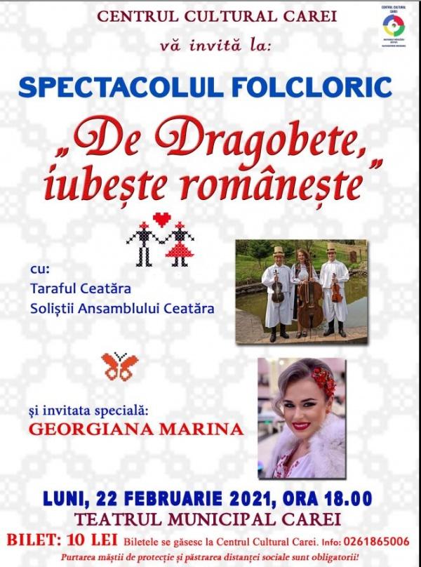 Spectacol folcloric de Dragobete la Carei