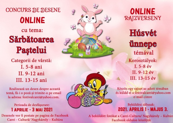 """Concurs de desene """"Sărbătoarea Paștelui"""" la Carei"""