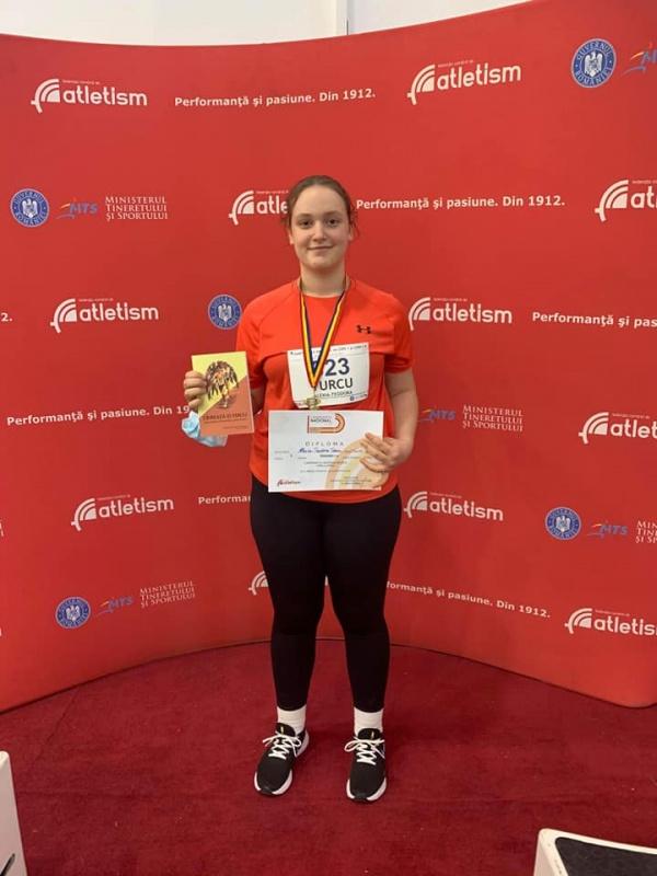 Careianca Alexia Turcu, campioană națională la aruncarea greutății categoria copii