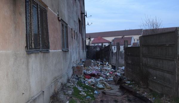 Focar de infecție, gunoaie la blocul Primăriei Carei. VIDEO