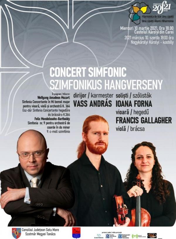 Concert simfonic la Carei. La Castel DA la Teatru BA