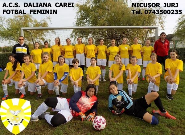 Se fac înscrieri pentru echipa de fotbal feminin Carei
