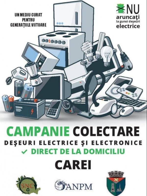 Campanie de colectare deșeuri electrice la Carei