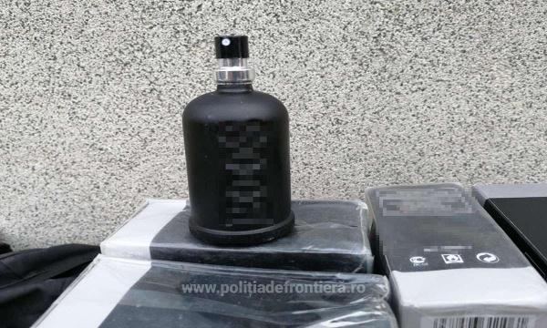 Cifra zilei. 69 de sticluțe de parfum descoperite de vameșii de la Urziceni