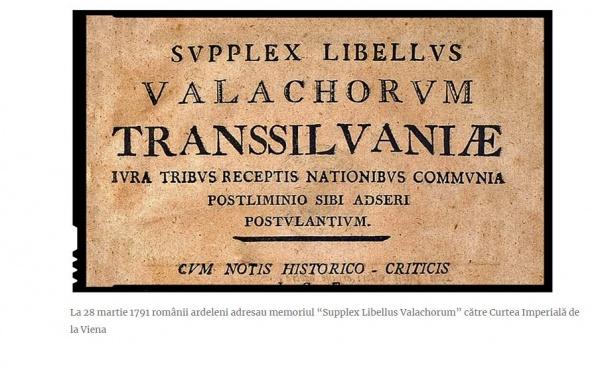 """Românii din Carei la 230 de ani de la depunerea memoriului """"Supplex Libellus Valachorum"""" către Curtea Imperială de la Viena"""