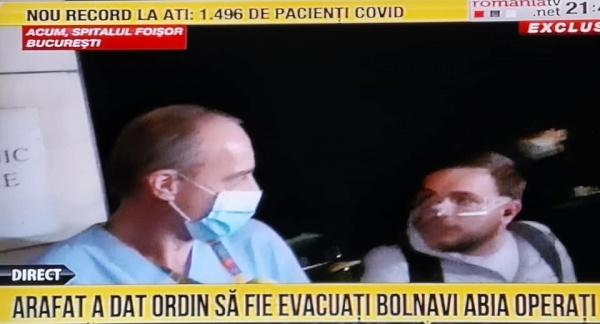 Pacienți operați recent evacuați  la decizia lui Arafat și Voiculescu