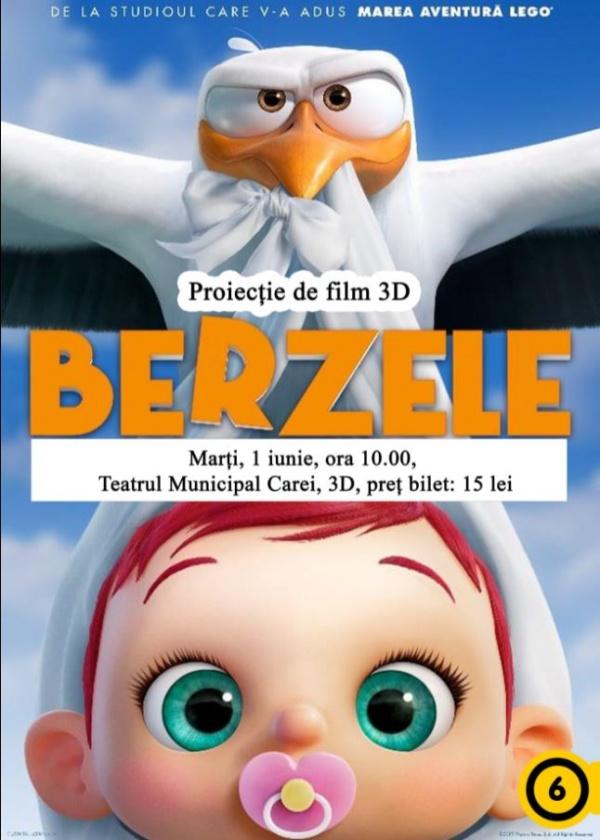 Proiecție de film 3D pentru copii la Carei
