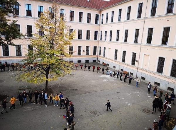 """Protest al elevilor de la Colegiului Naţional """"Emanuil Gojdu"""" împotriva demiterii directorului de către ISJ Bihor"""