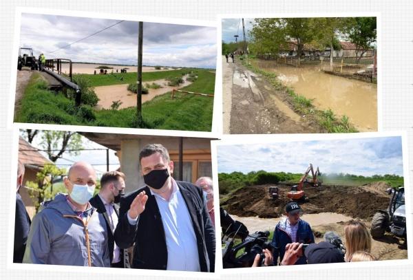 Inundațiile din județul Satu Mare, ședințele foto și digurile neconsolidate