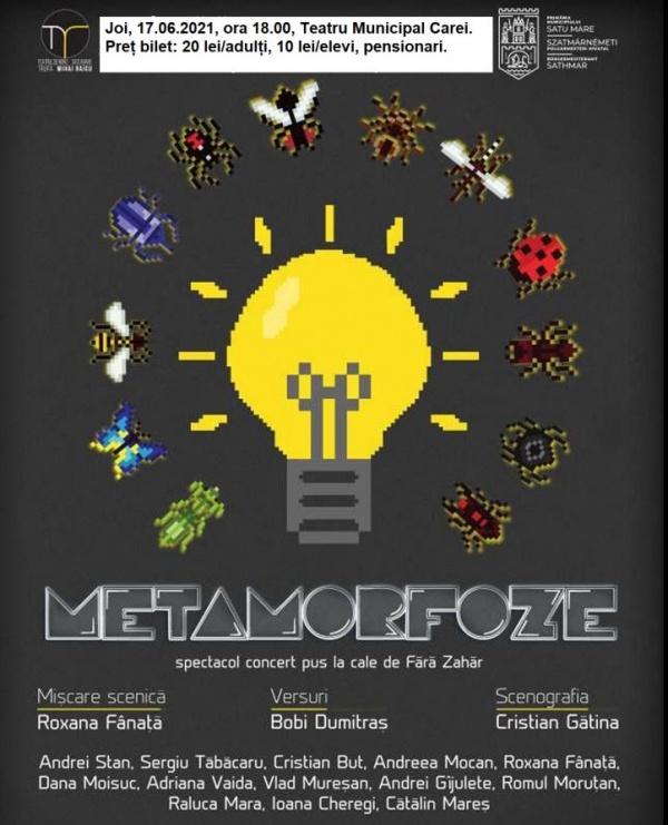 Reduceri de preț pentru bilete la spectacolul concert Metamorfoze
