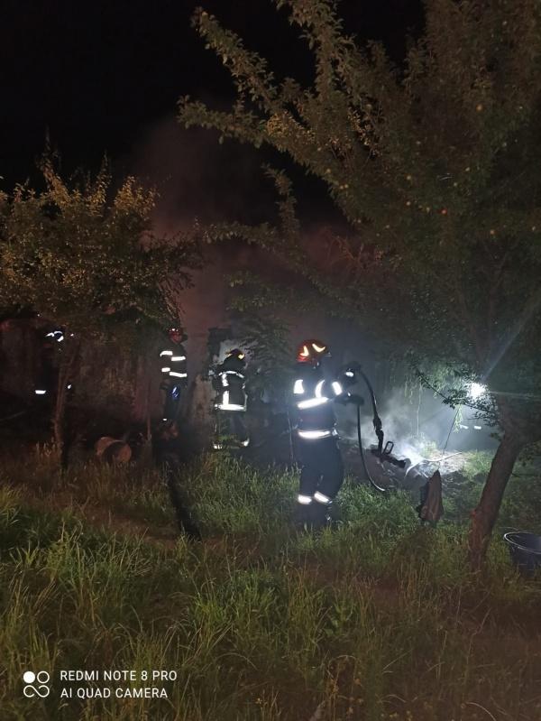 Incendiu la Domănești