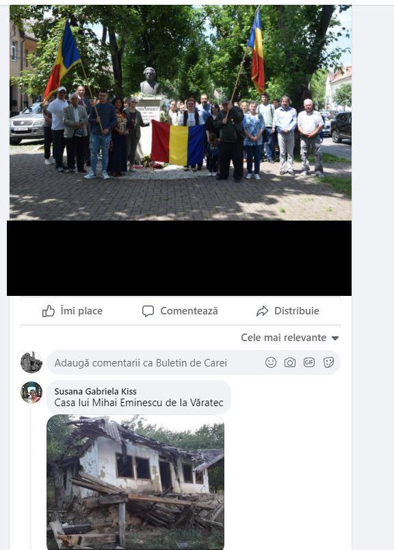 Apar răutăcioșii după comemorarea lui Mihai Eminescu de la Carei