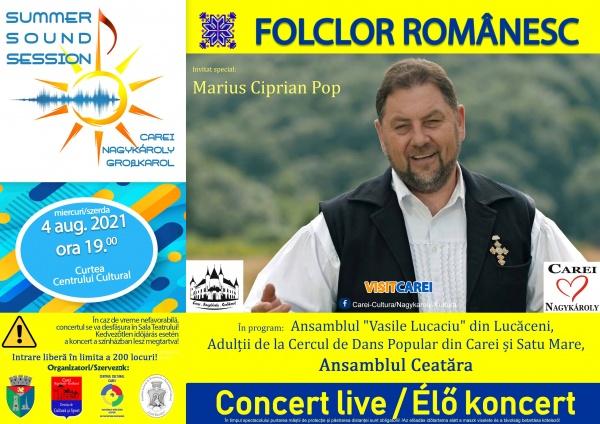 Ziua Folclorului Românesc și invitatul special, Marius Ciprian Pop, la Carei