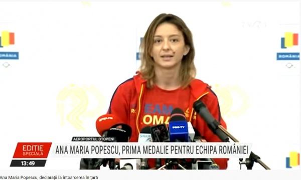 Impresionant! Discursul vicecampioanei olimpice Ana Maria Popescu