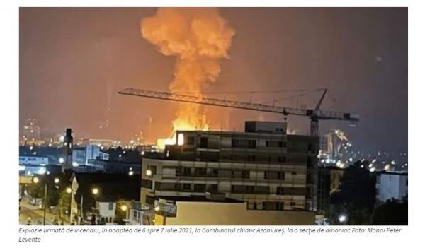 Explozie la Combinatul Azomureș. După spitale bubuie și unitățile de producție românești